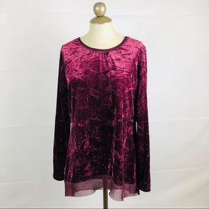 Simply vera vera wang crushed velvet tunic top